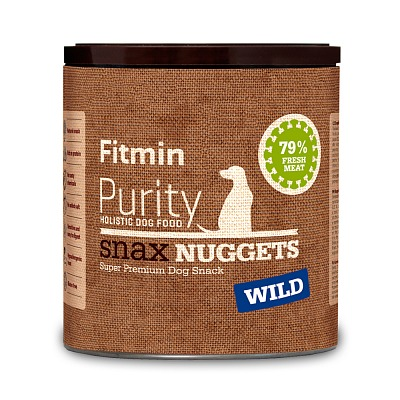 Fitmin Purity dog Snax NUGGETS dziczyzna 180g